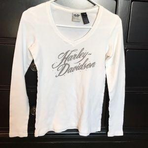 Harley Davidson motorcycles medium waffle shirt